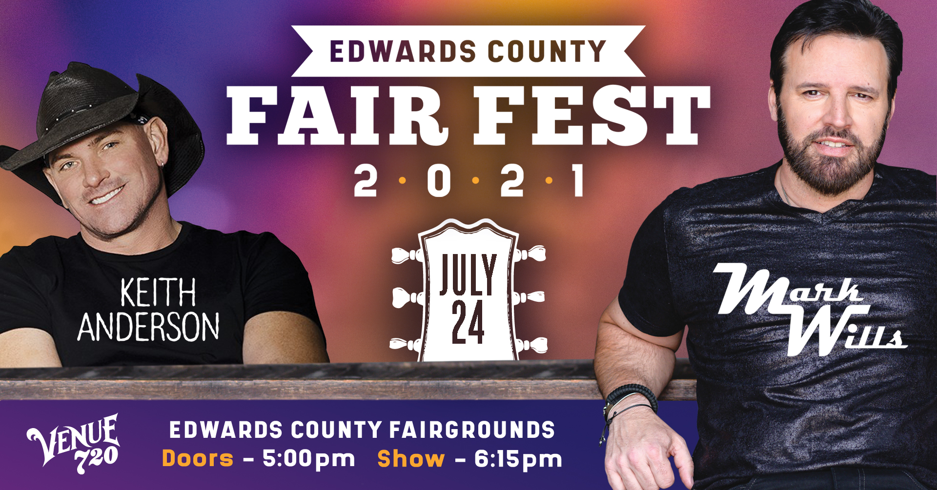 Mark Wills and Keith Anderson at Edwards County Fair Fest 2021